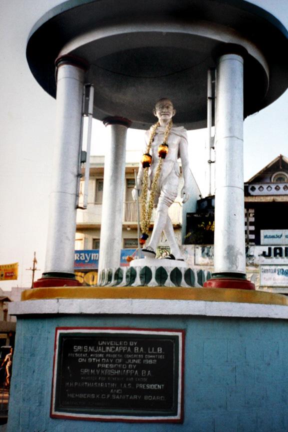 Gandhi in Roberstonpet photo napob.com