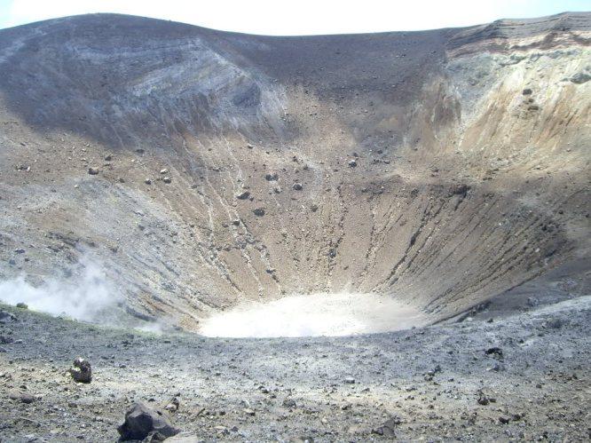 The caldera at Vulcano, Aeolian Islands
