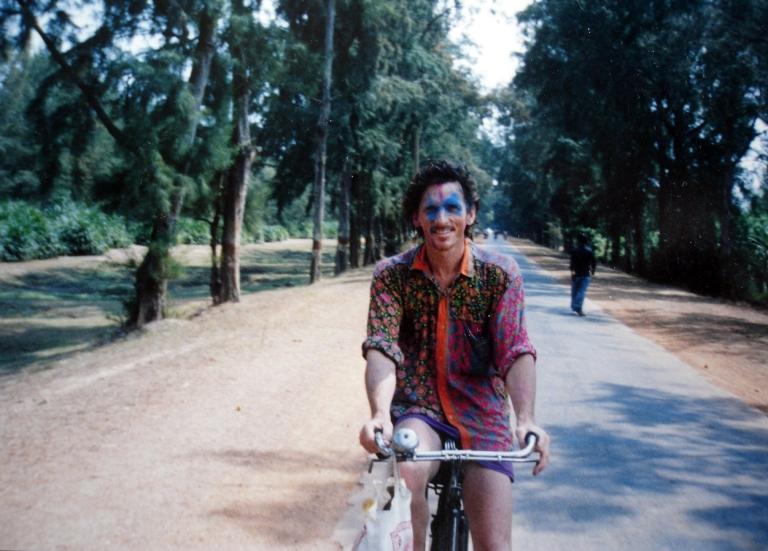 Holi Cyclist