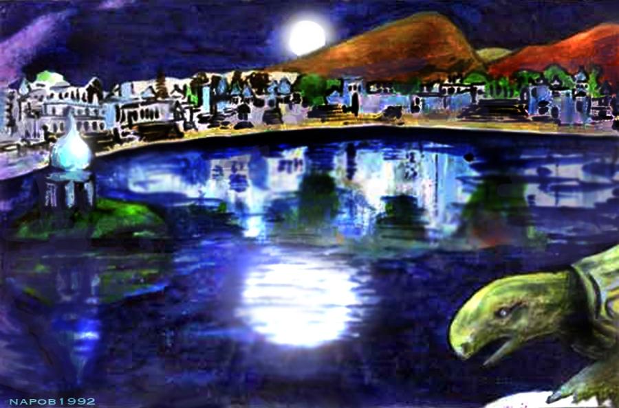 Full Moon Lake Pushkar, India