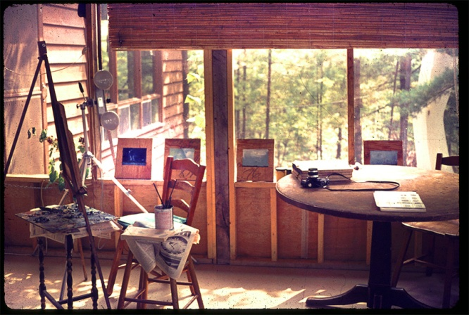 Calabogie Lake Studio where I painted my UFO paintins, 1974