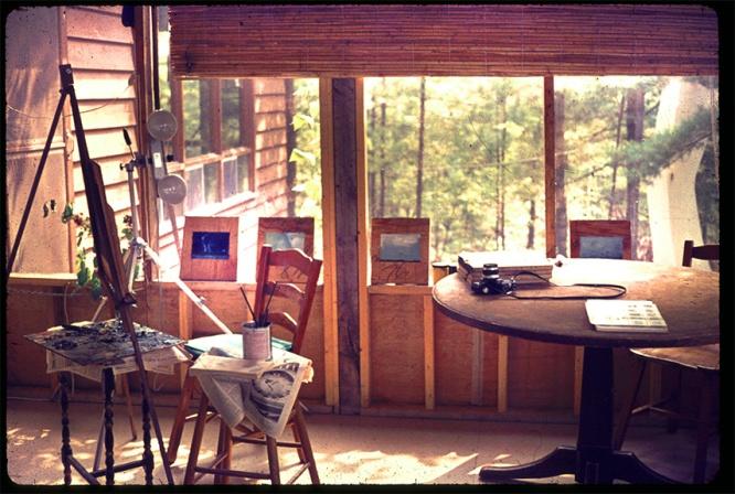 Calabogie Lake Studio where I painted my UFO paintins, 1974