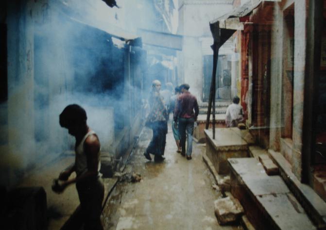 Old Varanasi street by the Ghats