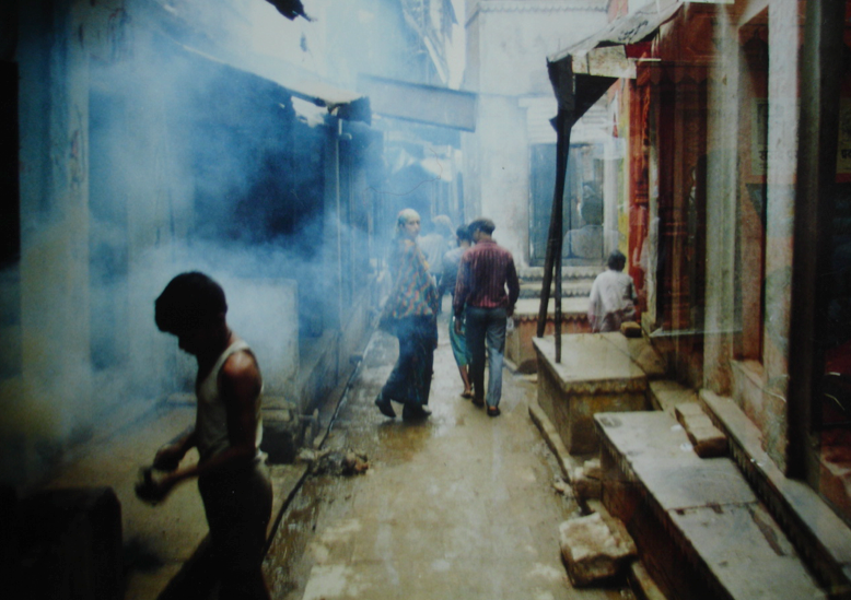 Old Varanasi street by the Ghats